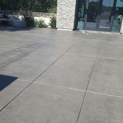 An image of a a paved courtyard floor