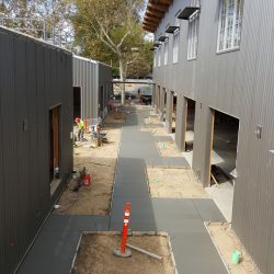 An image of a walkway being constructed